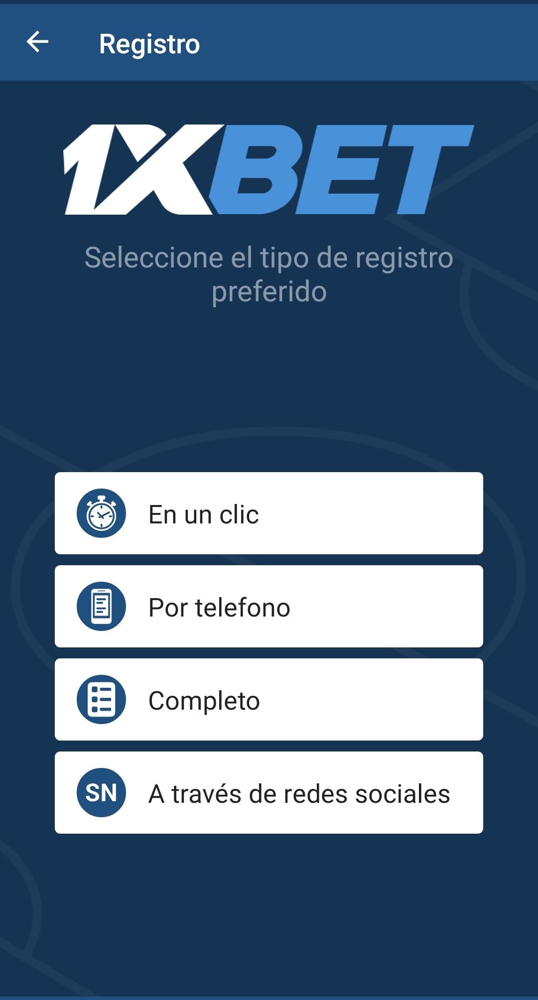 1xBet app Peru
